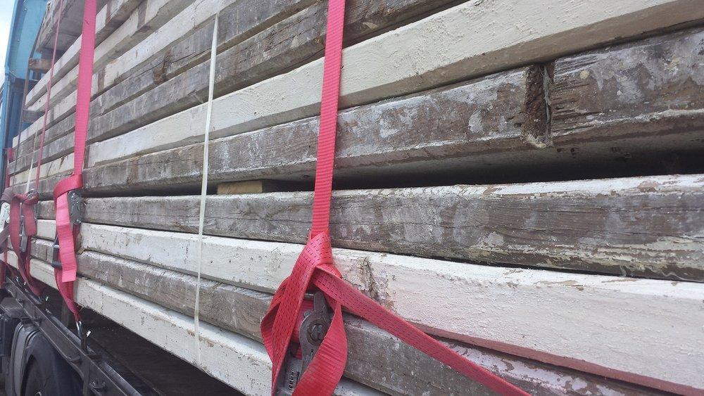 Antieke grenen balken 100x300mm