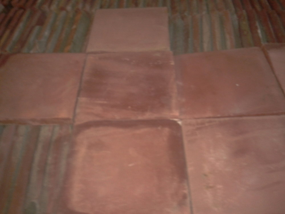 Oude cementtegels rood 20x20cm
