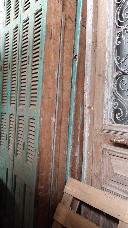 Antieke louvreramen