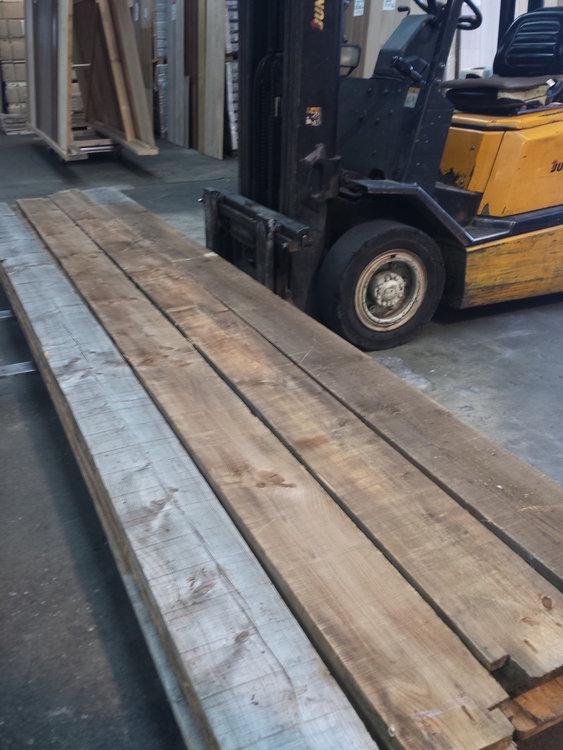 Antieke grenen planken 250mm breed