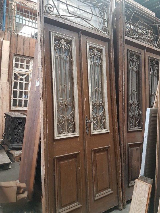 Antieke dubbele deur 118 x 306 cm