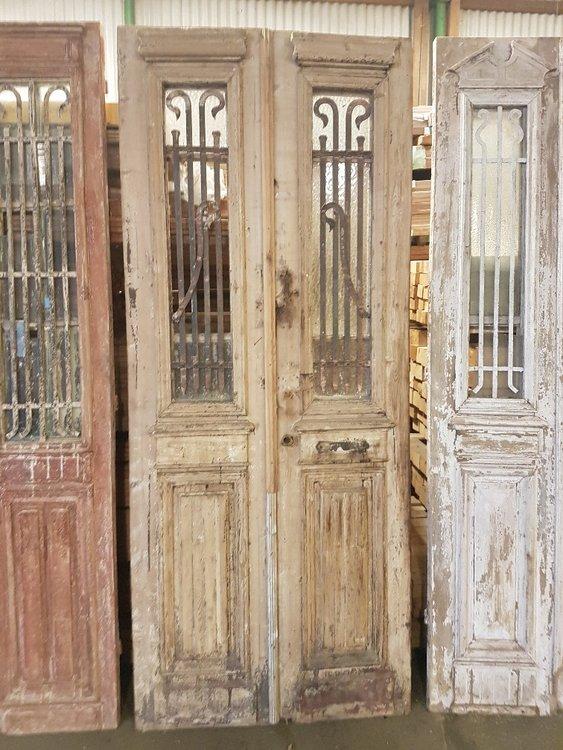 Antieke dubbele deur 100 x 245 cm