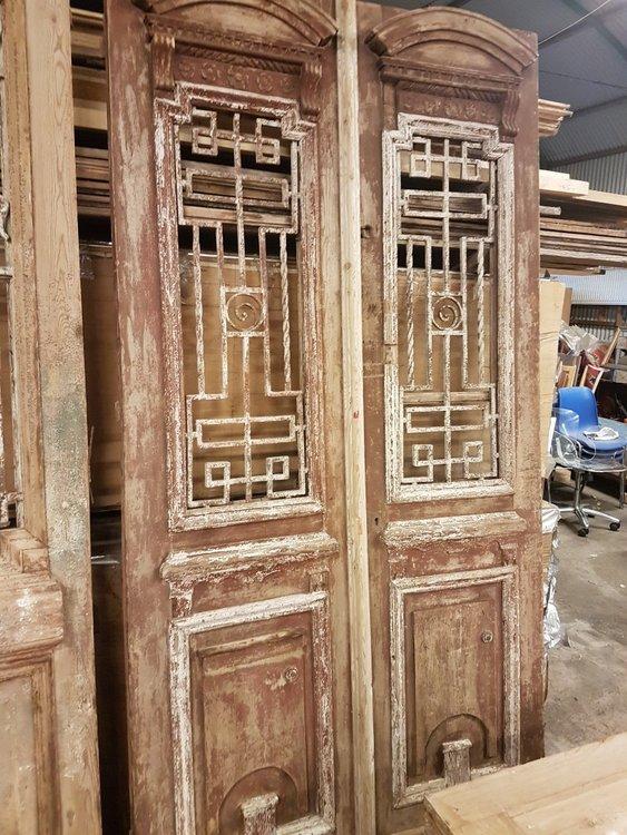 Antieke dubbele deur 126 x 248 cm