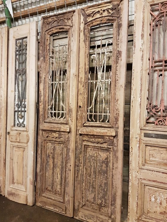 Antieke dubbele deur 110 x 242 cm