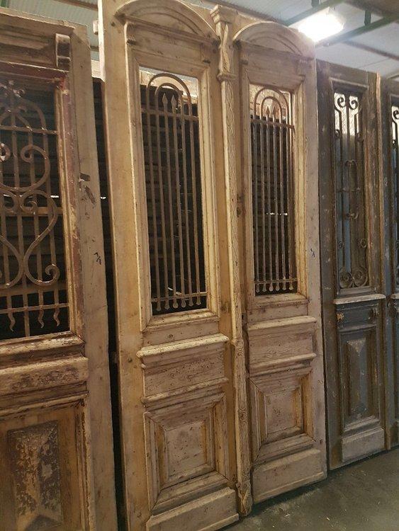 Antique double door 128 x 268 cm