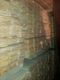 Pine vloerdelen, rondom messing en groef 195mm breed _