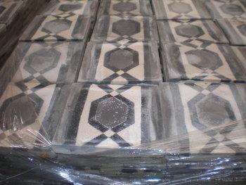 Antieke tegels randtegels 20x20cm