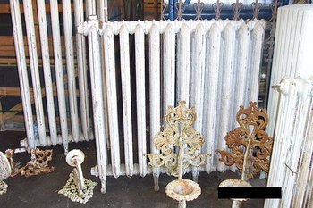 Antieke gietijzeren radiatoren