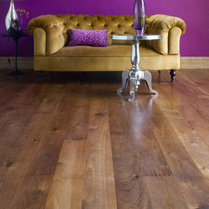 145m2 Oak floortiles smoked brushed and oiled