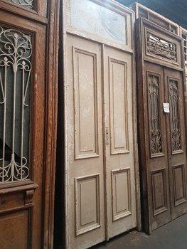 Antieke dubbele deur 120 x 315 cm