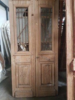 Antieke dubbele deur 102 x 214 cm