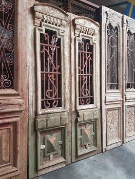 Antieke dubbele deur 132 x 233 cm