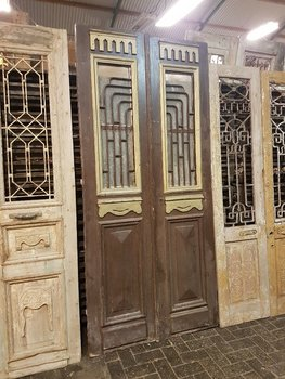Antique double door 113 x 250 cm