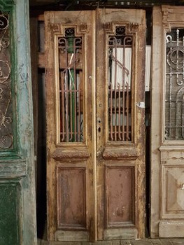Antique double door 110 x 250 cm