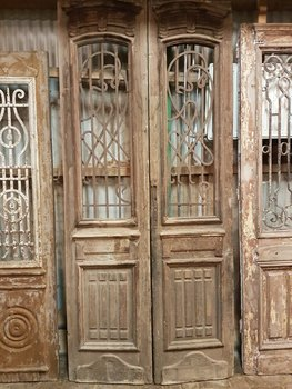 Antique double door 115 x 250 cm