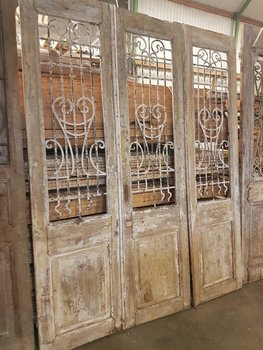 Antieke 3 slag deur 190 x 241 cm