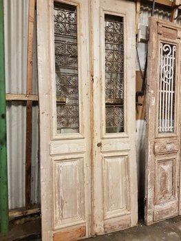 Antieke dubbele deur 109 x 246 cm