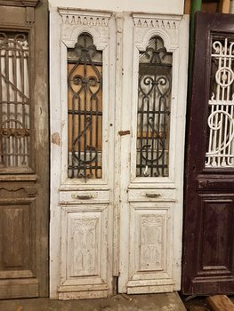 Antique double door 112 x 236 cm
