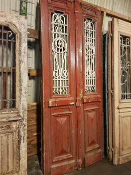 Antique double door 110 x 252 cm