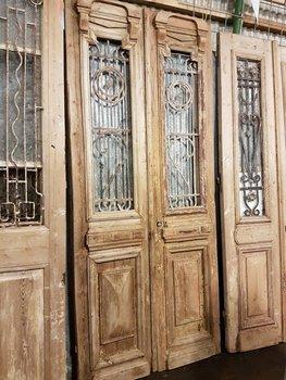 Antieke dubbele deur 107 x 246 cm