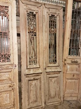 Antique double door 108 x 253 cm