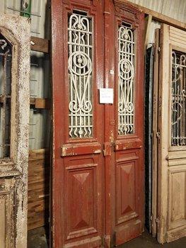 Antieke dubbele deur 110 x 252 cm