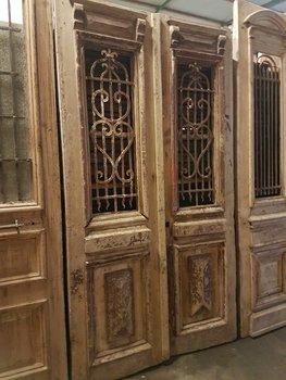 Antieke dubbele deur 130 x 240 cm