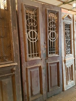 Antique double door 118 x 238 cm