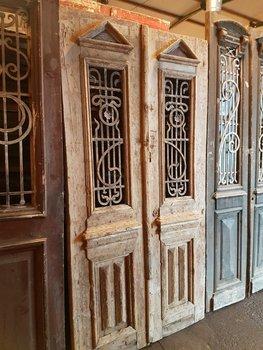 Antieke dubbele deur 118 x 230 cm
