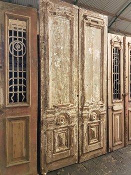 Antieke dubbele deur 134 x 264 cm