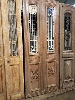 Antieke dubbele deur 100 x 250 cm