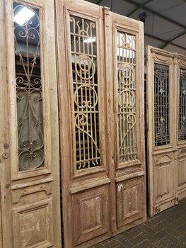 Antieke dubbele deur 131 x 288 cm