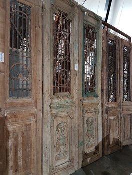 Antieke dubbele deur 126 x 262 cm
