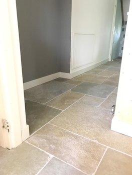 Bourgondische dallen Cathedraal, antieke kalksteen vloer