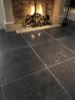 Belgisch hardsteen tegels Antiek verouderd 60x60cm
