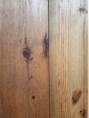 29,24 m2 Massieve pine vloer 170 mm breed verouderd en geolied