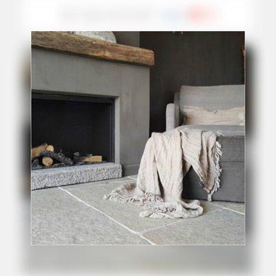 185m2 Bourgondische dallen Cathedraal, natuursteen tegels Sand Groot wildverband