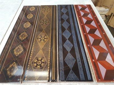 Partij keramische tegelstrips geglazuurd in 8 soorten formaat 13 x 60 cm