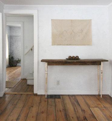 Antiek verouderde Pine vloerdelen Kant & klaar