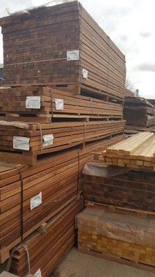 Hardwood beams 40x60mm
