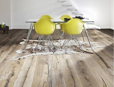 Aged Oak floortiles multilayer