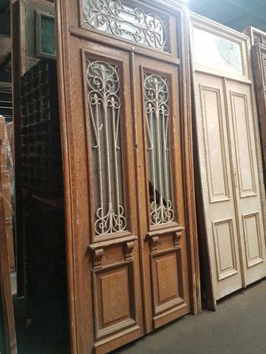 Antieke dubbele deur 143 x 315 cm