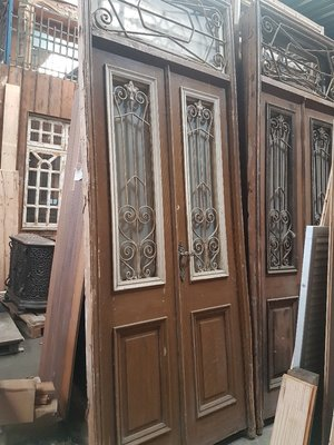 Antique double door 118 x 306 cm
