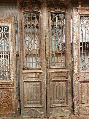 Antique double door 115 x 250 cm