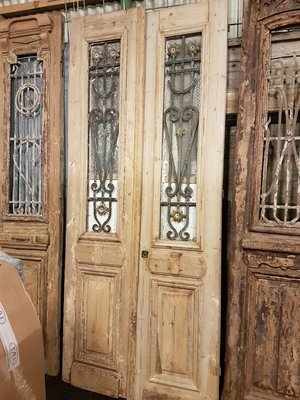 Antieke dubbele deur 102 x 240 cm