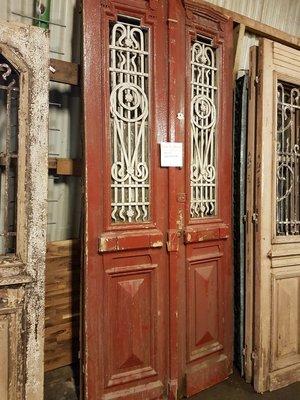 Antique double door 110 x 252 cm