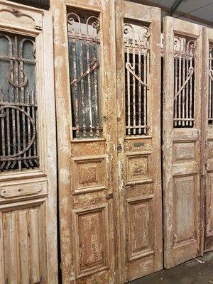 Antieke dubbele deur 102 x 254 cm