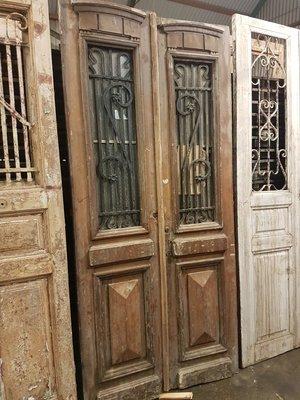 Antique double door 112 x 245 cm