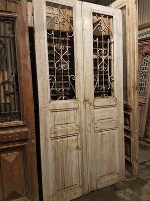 Antieke dubbele deur 130 x 258 cm