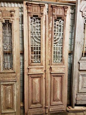 Antieke dubbele deur 102 x 247 cm